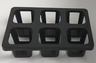 Черные лотки под квадратные и круглые горшки, размер 21.8 х 32.5 - купить в магазине частной коллекции суккулентов ML Collection